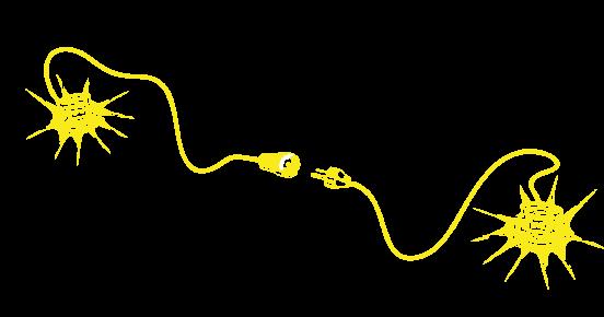 Das Logo bestehend aus zwei Leuten und einem Stromkabel.