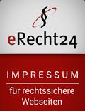 eRecht24 Impressum für rechtssichere Webseiten.
